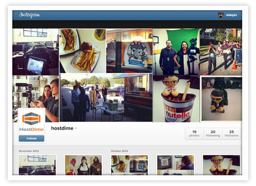 host dime instagram