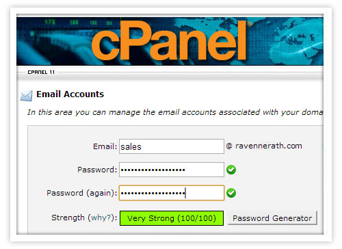 manage mail in cpanel