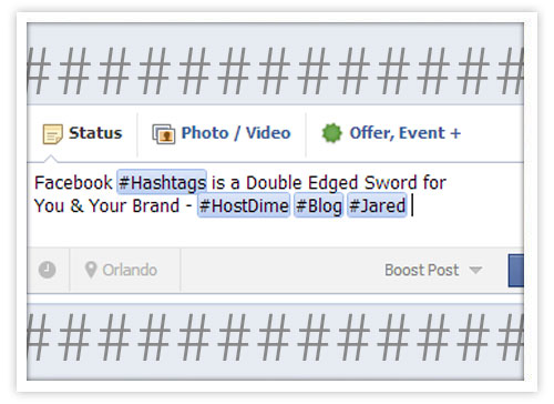 facebook hashtags for your brand