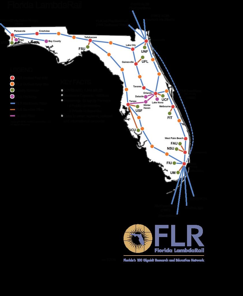 Florida Universities Map.Hostdime S Data Center Runs Fiber To Florida Lambdarail Pop