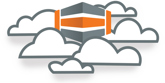 HostDime icon cloud graphic