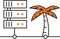Data Center palm icon