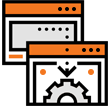 Expert hands service icon