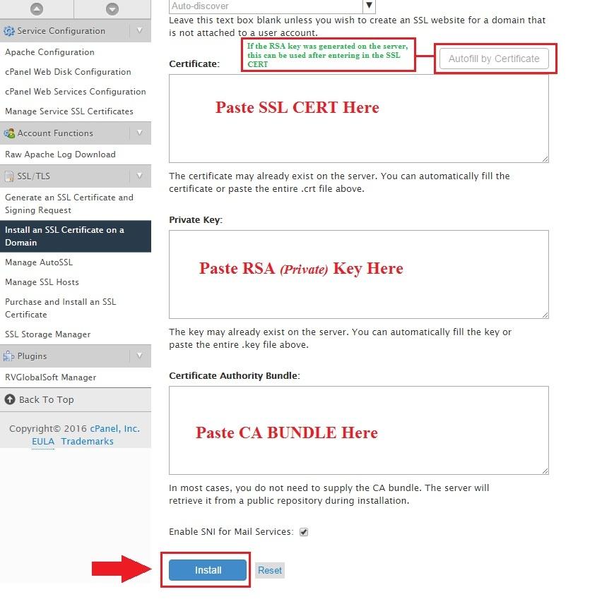 Install Ssl On A Domain Via Whm Hostdime Knowledge Base Kb