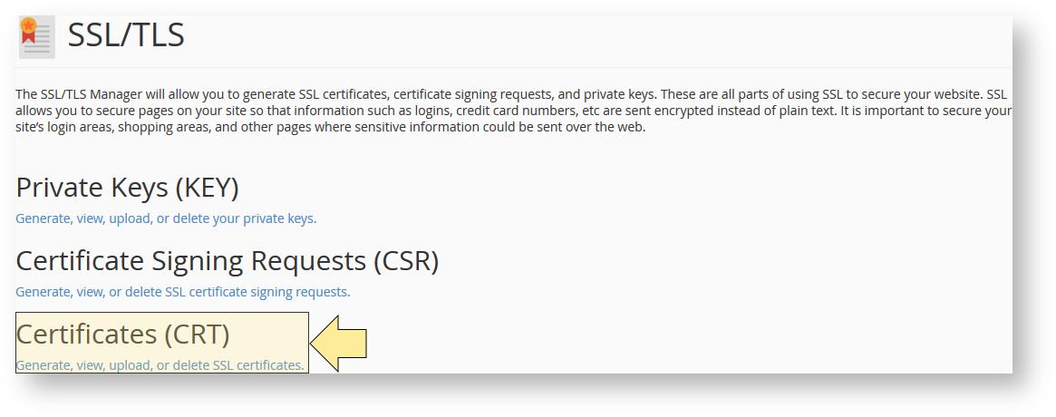 Generate A Self Signed Ssl Certificate Using Cpanel Hostdime