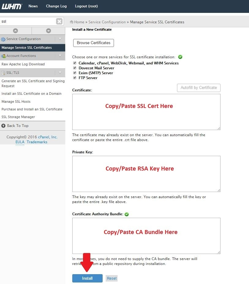 Install Ssl On Your Hostname Services Via Whm Hostdime Knowledge