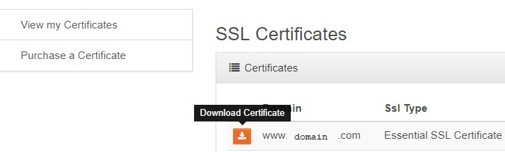 how to download your ssl certificate via core hostdime knowledge