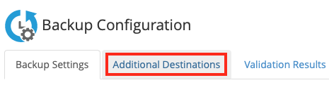 Select the additional destinations tab