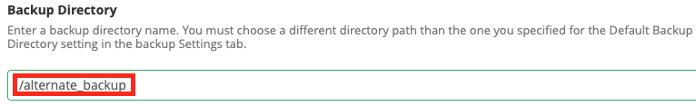 Specify backup destination directory name