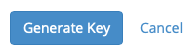 Create the key by clicking the generate key button or click cancel to not create a key