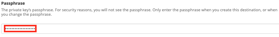 Optionally specify the private key password