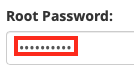 Enter the Root Password for the Source Server