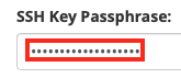 Enter the SSH Key Password if the Key has One