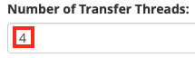 Change the Number of Transfer Threads