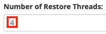 Choose the Number of Restore Threads