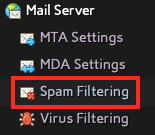 Click on Spam Filtering in the Mail Server Section of NodeWorx