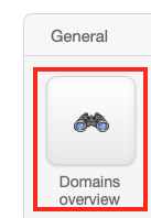 Click on Domains Overview in the Sidebar or Dashboard