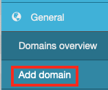 Click Add Domain in the Sidebar