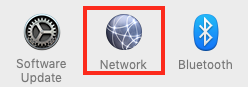 Click on Network in System Preferences