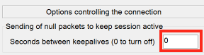 Set a Number of Seconds Between Keepalive Attempts if Needed