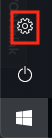 Click the Small Gear Icon from the Windows Menu