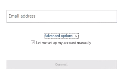 Type in your Email Address and Click Connect