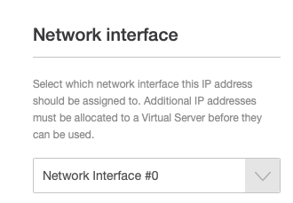 Select the Network to Apply an IP Address to