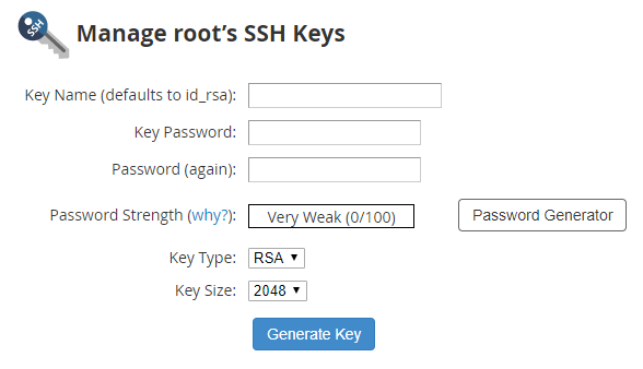 generate rsa private key without passphrase
