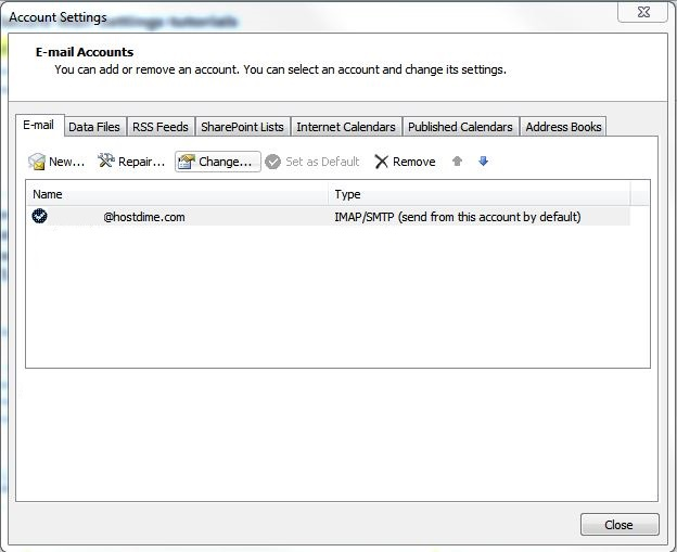how to change your password in outlook 2010