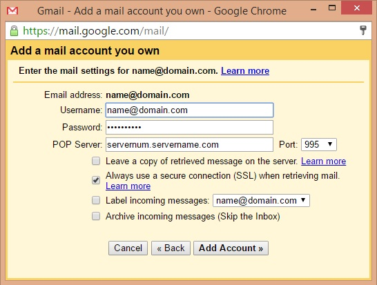 Setting Up And Configuring Gmail To Send And Receive Mail HostDime - Make own email