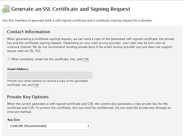 How To Generate Csr And Rsa Key Via Whm Hostdime Resources