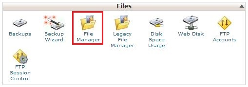 how to open file manager in whm